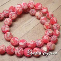 Мозаика из перламутра. Матовый шарик 10 мм. Розовый (38 шт.)