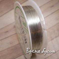Проволока мягкая, цвет серебро 0.2 мм (катушка 30 м.)