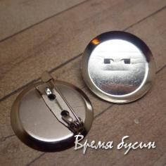 Основа для броши с булавкой, диам. 24 мм (1 шт.)