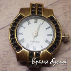 Основа для часов, цвет бронза, циферблат римский (1 шт.)