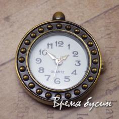 Основа для часов, цвет бронза, циферблат арабский (1 шт.)