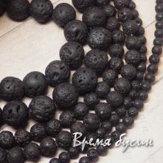 Лава черная, шарик 4-6-8-10-12 мм (1 шт.)