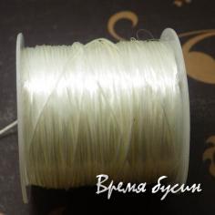Резинка плоская, спандекс, эластичная нить 0,8 мм (10 м)