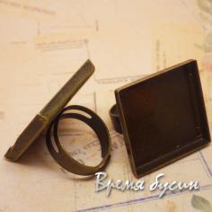 Основа для кольца под бронзу, 25 мм