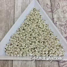 2 мм Бусины-разделители под серебро (5 гр.)