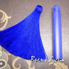 Кисти из шелковой нити 7 см., цвет СИНИЙ (2 шт.)