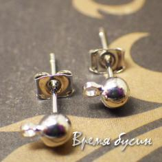 Швензы-гвоздики из латуни с родиевым покрытием