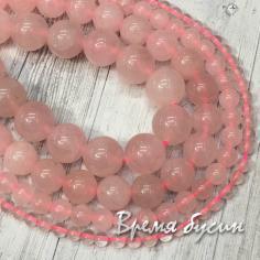 Розовый кварц. Шарик гладкий 4-6-8-10-12 мм (1 шт.)