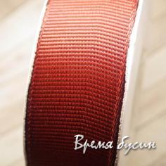 Лента репсовая, 25 мм, цвет коричневый (1 м.)