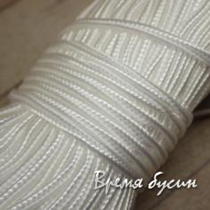 Шнур сутажный 2 мм, цв. белый (1 м.)