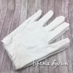 Перчатки ювелирные, цв.белый (1 пара)