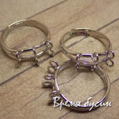 Основа для кольца с петлями, цв. никель (1 шт.)
