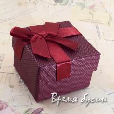 Коробочка подарочная квадратная 5х5 см
