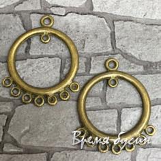 Коннектор металлический, цв. бронза (2 шт.)