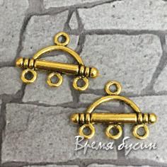 Коннектор металлический, цв. золото (2 шт.)