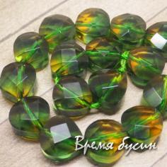 Аметриновый кварц, таблетка желто-зелёная гранёная (1 шт.)