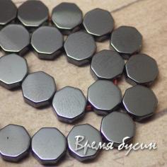 Гематит черный, таблетка плоская 6 мм (1 шт.)