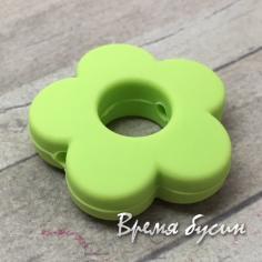 Бусины из пищевого силикона. Цветок 27 мм (1 шт.)