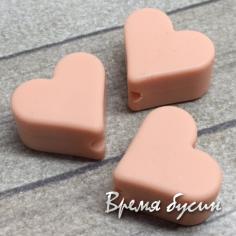 """Бусина из пищевого силикона """"Сердечко"""", 14 мм (1 шт.)"""