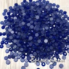 Стразы термоклеевые SS16, цв. синий (2 гр.)