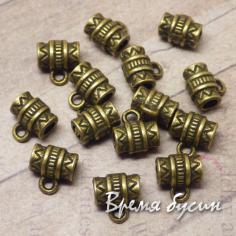 Бейл металлический, 8х8 мм, цв. БРОНЗА (1 шт.)