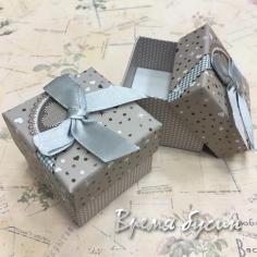 Коробочка подарочная с рисунком, 5х5х4 см (1 шт.)