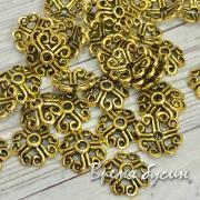 Шапочки для бусин 8 мм, цв. золото (5 гр.)