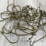 Швензы-крючки 11х24 мм, цв.бронза (1 пара)