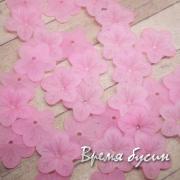 Цветочки акриловые,  5х18 мм, цв. розовый (10 шт.)