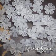 Цветочки акриловые,  16 мм, цв. белый (10 шт.)
