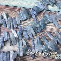 Аквамарин натур., необработанные палочки (1/2 нити, ок. 30 шт.)