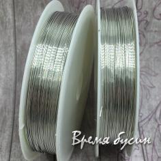 Проволока мягкая, цвет серебро 0.4 мм (катушка 8 м.)