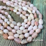 Розовый опал, галтовка мелкая (1/2 нити, ок. 24 шт.)