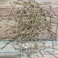 Пины с гвоздиком. Цвет никель. 70 мм (10 гр.)
