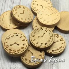 """Бусины из дерева """"Часы"""", диск 23х6 мм (1 шт.)"""