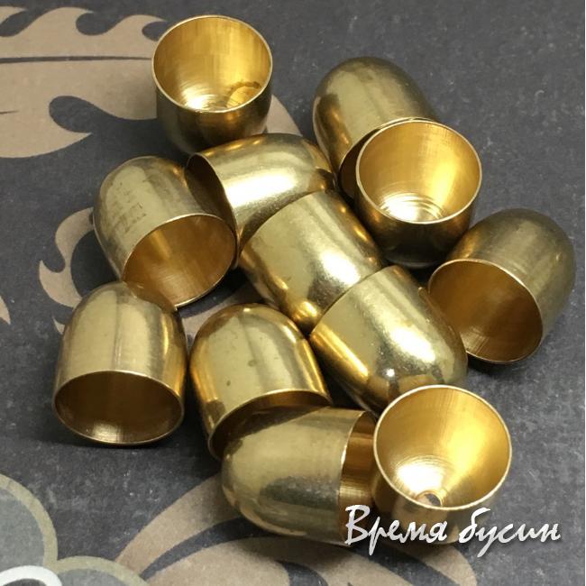 Концевики для кистей, латунь 10х10 мм (2 шт.)
