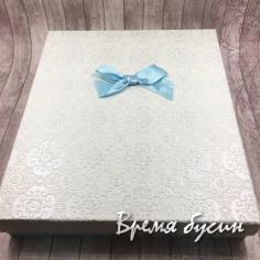 Большая подарочная коробка для украшений, 16х19х3 см, цвет