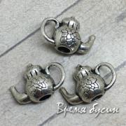 Чайник. Подвеска металлическая цв. серебро (1 шт.)