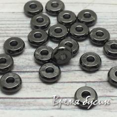 Разделители для бусин, 1х4 мм, латунь с черным родиевым покрытием (1 шт.)
