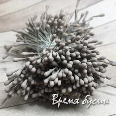 Тычинки для цветов, 1.5 мм цв. серый (100 шт.)