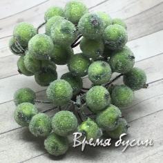 Ягодки с обсыпкой, цв. зеленый (10 шт.)