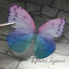 Крылья бабочки из органзы, 36х48 мм, цв. разноцветный  (1 шт.)