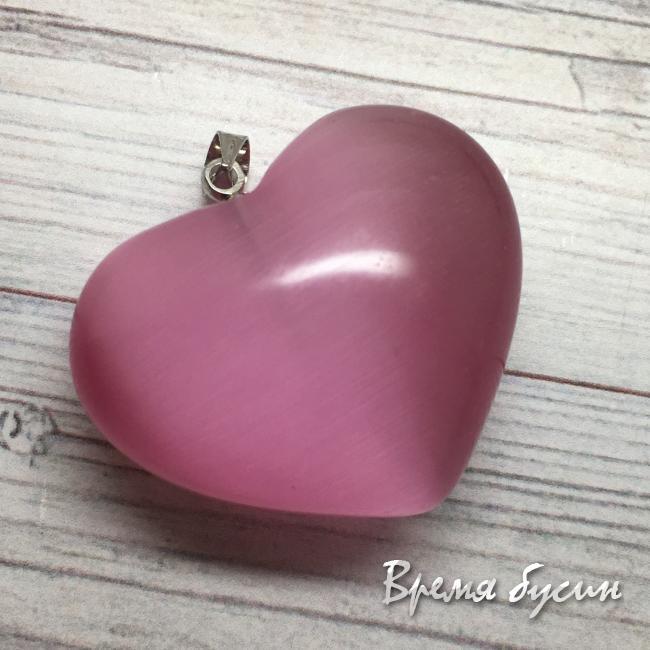 "Кулон из камня ""Объемное сердце"""
