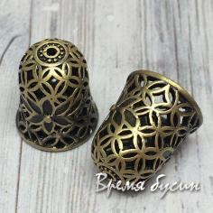 Концевики для серег-кисточек, латунь с покрытием под бронзу (2 шт.)