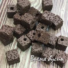 Лава, кубик 8 мм, цв. темно-коричневый (1 шт.)