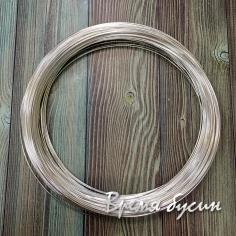 Мемори-проволока для колье, цв.серебро, диам. 110 мм (1 виток)