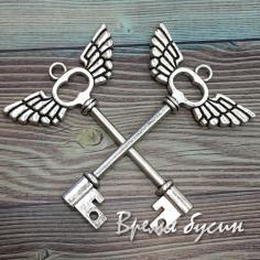 Ключ. Подвеска металлическая под серебро (1 шт.)