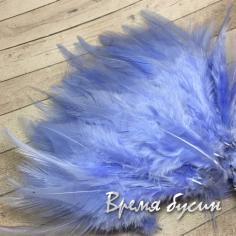 Перо петуха, цвет ГОЛУБОЙ, длина 7-10 см (1 шт.)