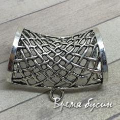 Бейл для шарфа металлический, цвет СЕРЕБРО