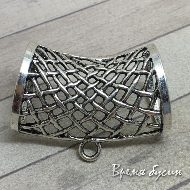 Бейл для шарфа металлический. Цвет серебро